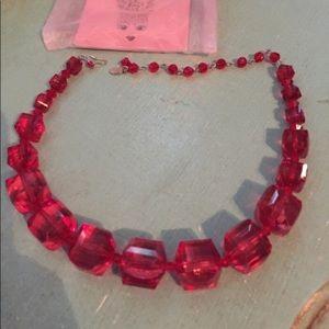RESERVED TARINA tarantino lucite necklace